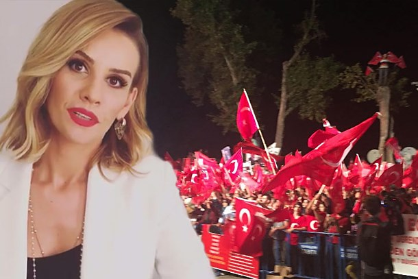 Esra Erol 'demokrasi nöbeti'nde!