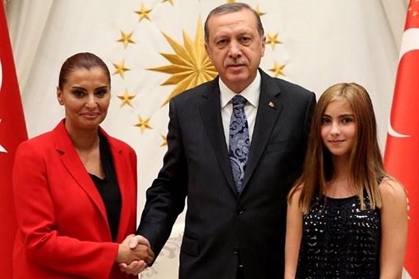 Cumhurbaşkanı Erdoğan Hande Fırat'ı kabul etti