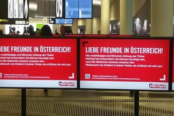Hürriyet, Avusturya'daki