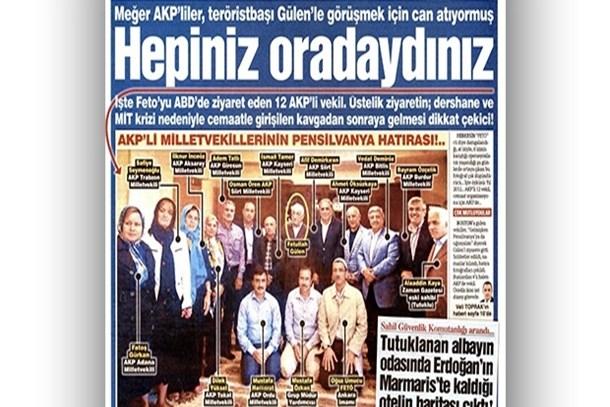 Sözcü'den olay iddia: AKP'li 12 milletvekili dershane krizinden sonra Gülen'i ziyaret etti!