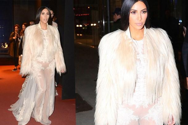 Kim Kardashian şeffaflığı abarttı!