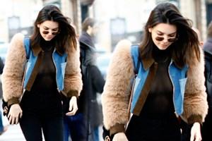 Kendall Jenner Paris'i salladı!