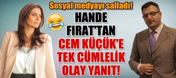 Hande Fırat'tan Cem Küçük'e tek cümlelik olay yanıt! Sosyal medyayı salladı!