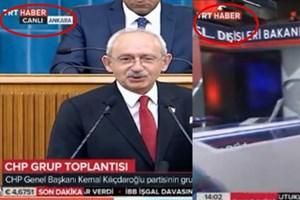 Kılıçdaroğlu belgeleri açıklarken TRT yayını kesti