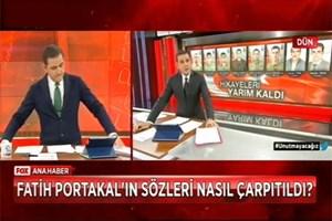 Fatih Portakal canlı yayında isyan etti