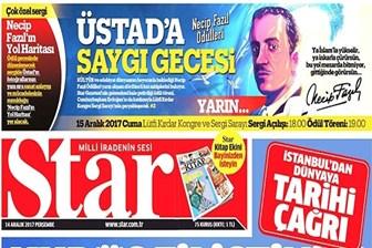 Star Gazetesi'nde Necip Fazıl skandalı! Kısakürek ailesinden tepki!