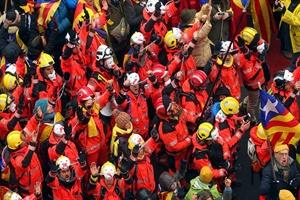 Ayrılıkçı Katalanlardan Brüksel'de protesto gösterisi