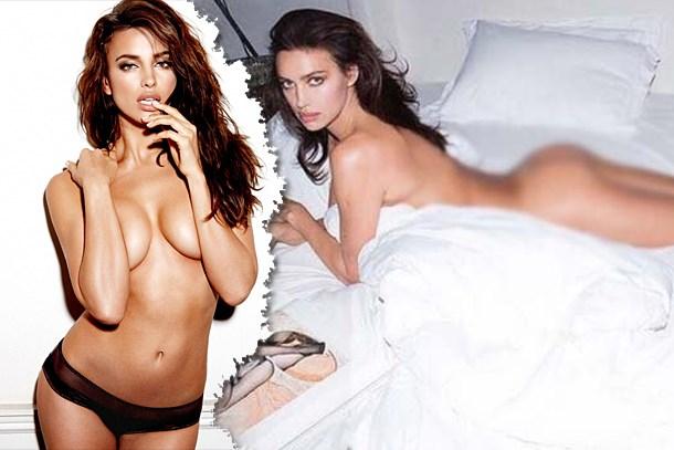 Takipçileri çıldırdı! Irina Shayk yatakta çırılçıplak!
