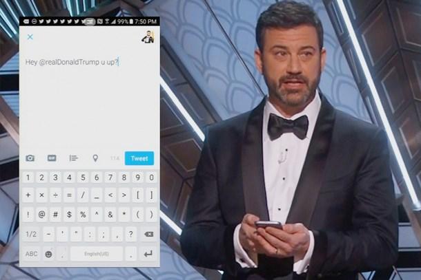 Oscar ödül töreninde sunucu Trump'a tweet attı!