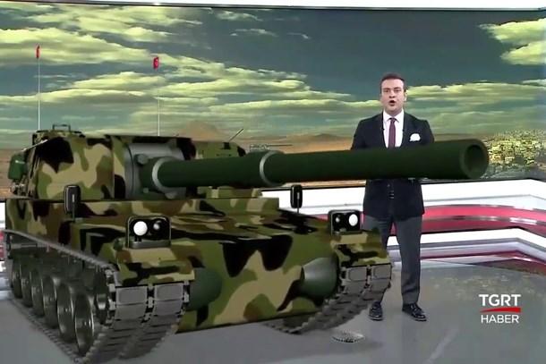 Türk televizyonlarında bir ilk! Stüdyoya F-16 ve Fırtına obüsü girdi!