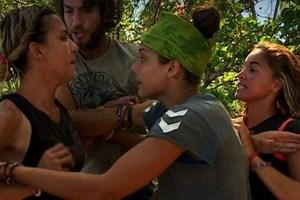Survivor'da Elif ile Berna birbirine girdi!