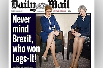 Daily Mail'in cinsiyetçi manşeti kızdırdı: Bacak yarışını kim kazandı?