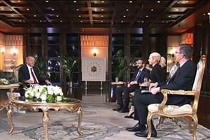 Erdoğan moderatörü uyardı