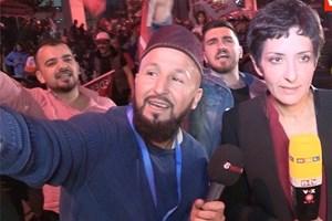 Ahsen TV muhabirinden Alman kanalının canlı yayınına sabotaj