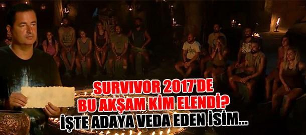 Survivor 2017'de bu akşam kim elendi? İşte adaya veda eden isim...