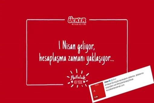 Ülker'in 1 Nisan reklamını yapan şirketten açıklama!