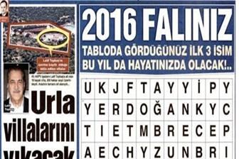 AA: Sözcü'ye 'FETÖ' operasyonunda 2016 falı da var