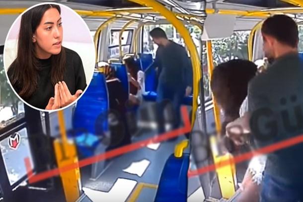 Şort giydiği için genç kızı minibüste darp eden saldırgan kamerada!