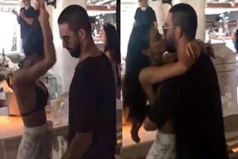 Arda Turan Yunan adasında aşka geldi! Dans ederken öpüştüler!
