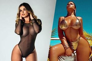 Rus Kim Kardashian bikinileriyle şov yaptı
