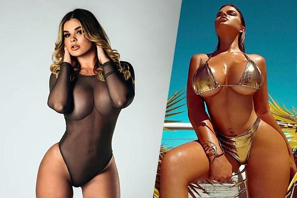 Rus Kim Kardashian bikinileriyle şov yaptı!