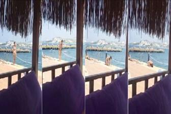 Milletçe kafayı yedik: Plajda bikiniyle namaz