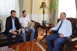 Guliyev, Erzurum Valisi Azizoğlu'nu ziyaret etti