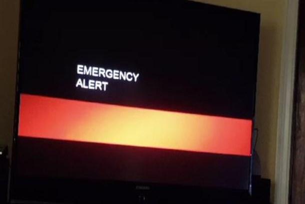 TV yayını bir anda kesildi! Kıyamet alarmı verildi!