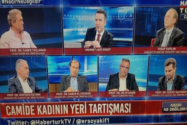 Habertürk TV'de tepki çeken görüntü! Kadının adı var kendisi yok!