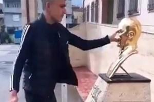 Atatürk'e hakaret eden video paylaştı