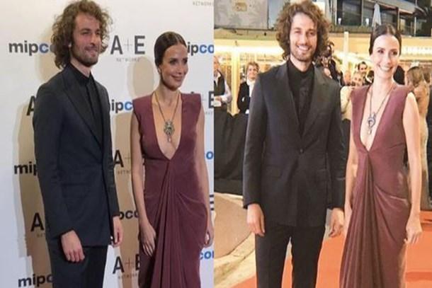 Ünlü oyuncuyla buluştu! Songül Öden'in Cannes şıklığı!