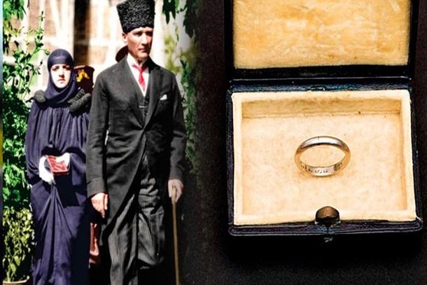Gün yüzüne çıktı! İşte Atatürk'ün Latife Hanım'a taktığı o yüzüğün hikayesi!