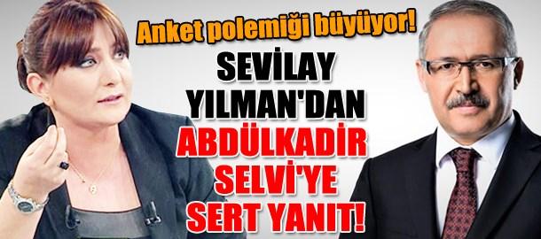 Anket polemiği büyüyor! Sevilay Yılman'dan Abdülkadir Selvi'ye sert yanıt!