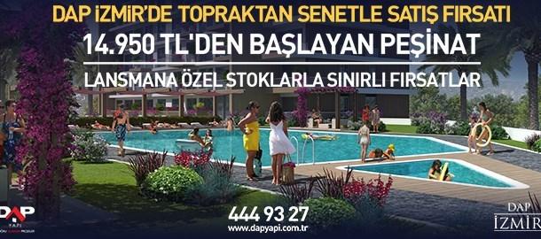 DAP İzmir'de topraktan senetle satış fırsatı!