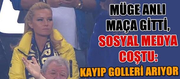 Müge Anlı Fenerbahçe maçına gitti, sosyal medya coştu: Kayıp golleri arıyor