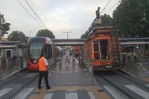 Aksayan tramvay seferleri normale döndü