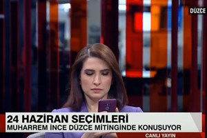 CNN Türk sunucusu zor anlar yaşadı!