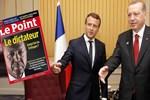 Le Point dergisinin 'Diktatör Erdoğan' kapağına Macron'dan destek!