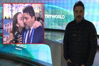Canlı yayında zor anlar! Dünya Kupası'nın güzeli TRT spikerini öptü!
