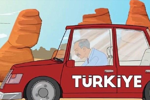 Bir animasyon da Saadet Partisi'nden: Karamollaoğlu Süpermen oldu!