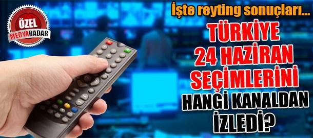 Türkiye 24 Haziran seçimlerini hangi kanaldan izledi? İşte reyting sonuçları...