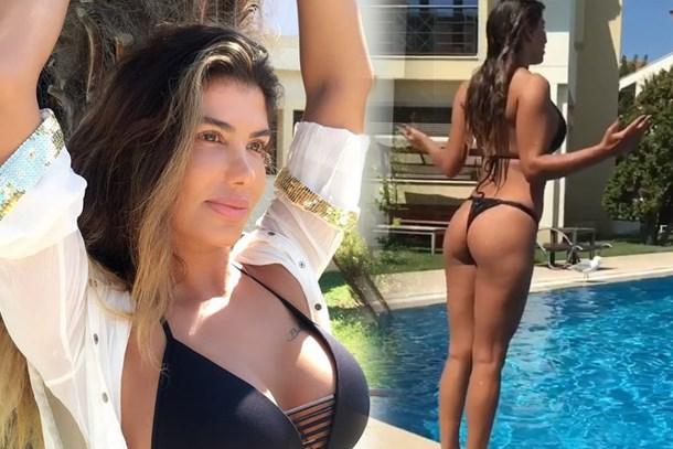 Şarkıcı Hatice'nin bikinili videosu sosyal medyayı salladı!