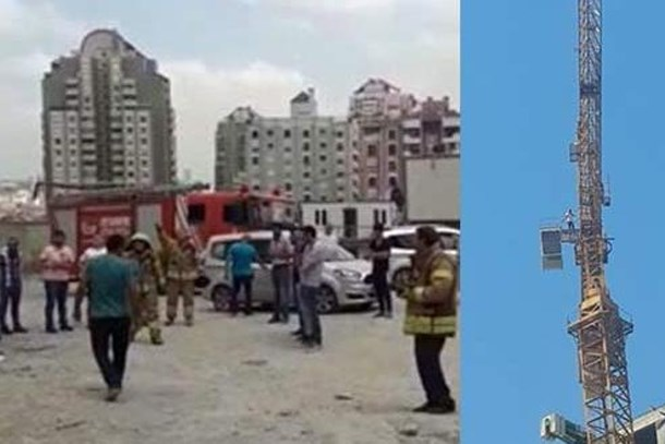 Referans Bahçeşehir'de olay! Vahit Kiler maaşları ödemedi, işçi vince çıktı!
