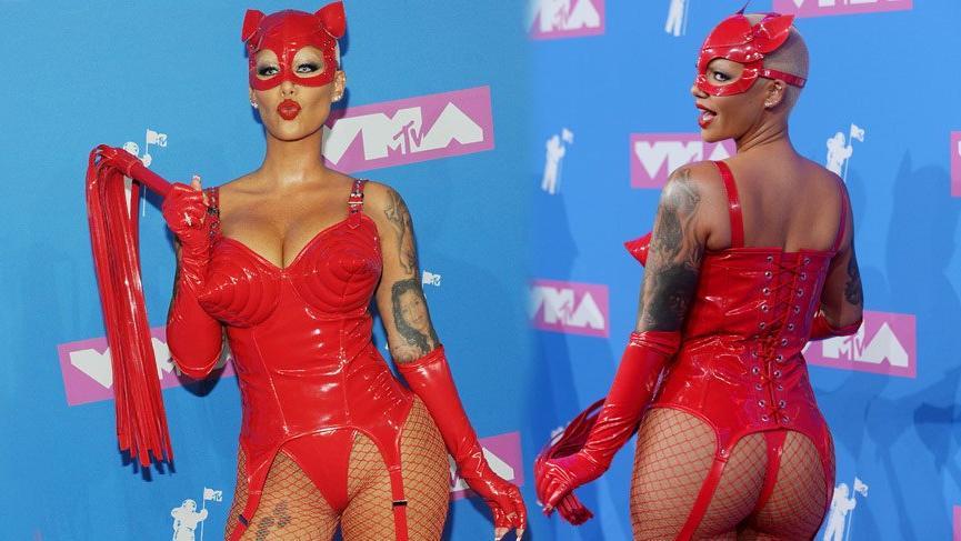 MTV Video Müzik Ödülleri'nde kırmızı halı şıklığı