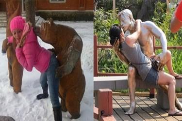 Bu heykellerin kızlarla başı dertte!