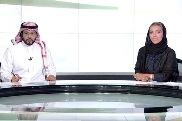 Suudi Arabistan'da bir ilk! Ana haberi kadın spiker sundu!