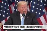 Trump'ın basın toplantısına bu anlar damga vurdu!